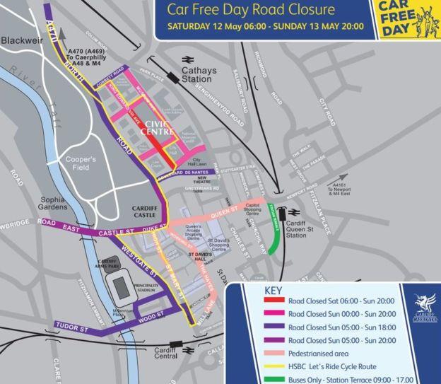 Cardiff City street parade