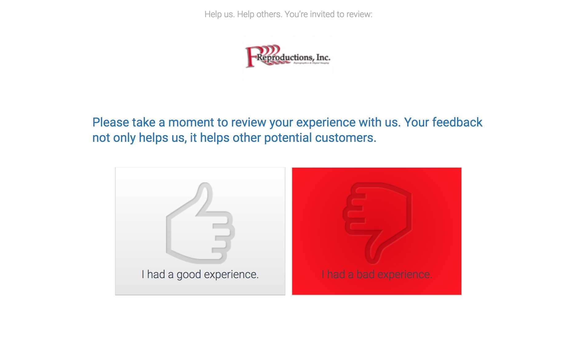 customer review bad experience screen